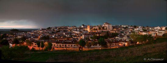 Chinchón blue hour
