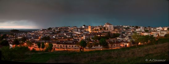 Chinchón blue hour