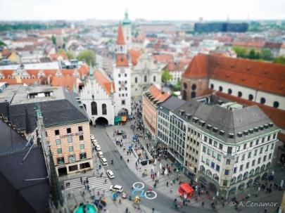 Marienplatz München Tilt Shift