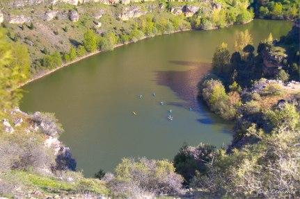 Piraguistas río Duratón