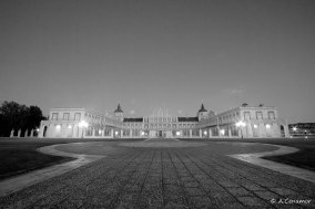 Royal Palace of Aranjuez BW Frontal