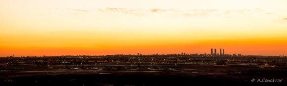 Sunset Skyline Madrid