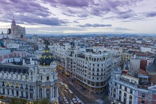 Sky line Madrid from CBA