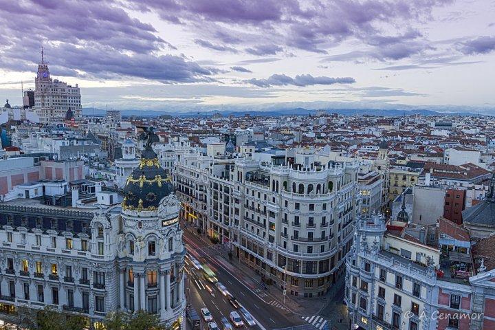Sky line Madrid from CBA