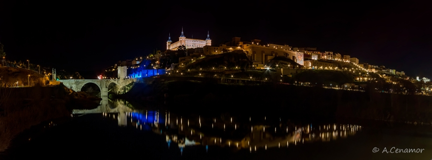 Alcantara bridge and Alcazar of Toledo