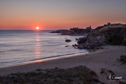 Sunset beach La Lanzada
