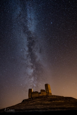 Milky way in the castle