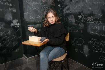 Angry schoolgirl